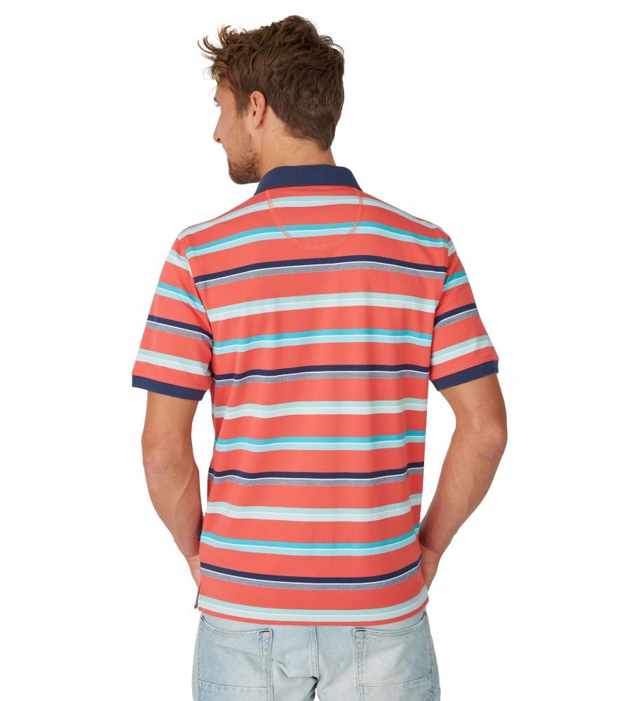 Pikee-Polo mit Ringel in Kontrastfarben 26625-320 back