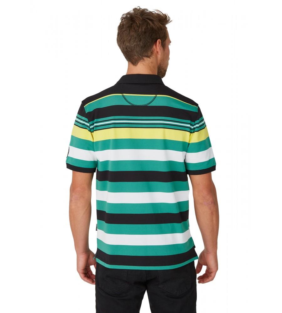 Pikee-Polo mit Ringelverlauf in ausdrucksstarken Farben 26626-100 back