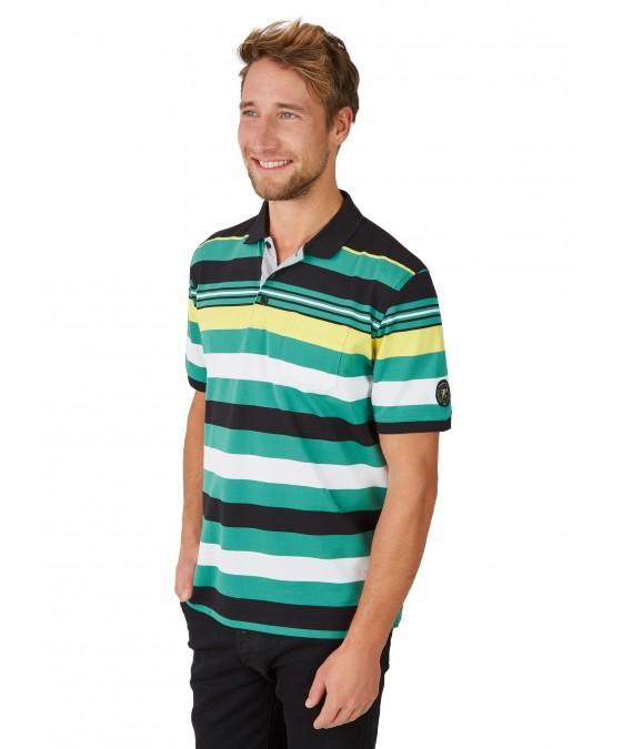 Pikee-Polo mit Ringelverlauf in ausdrucksstarken Farben 26626-100 front