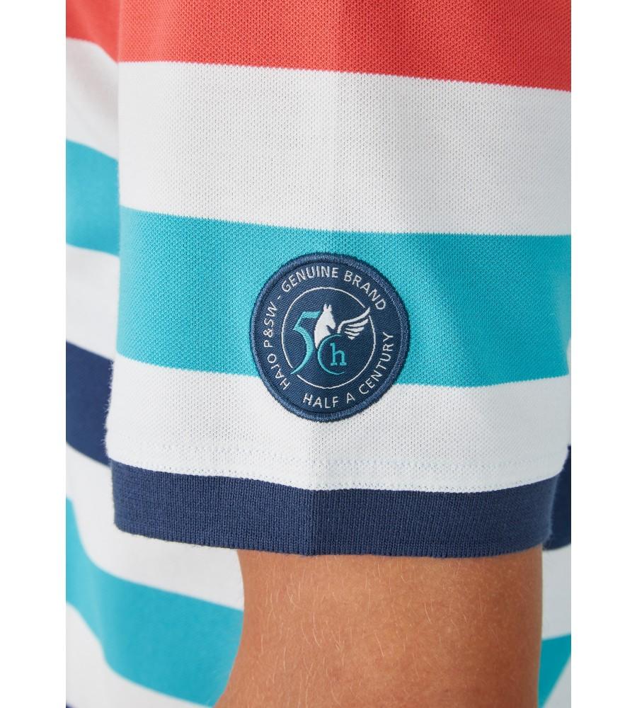 Pikee-Polo mit Ringelverlauf in ausdrucksstarken Farben 26626-638 detail2