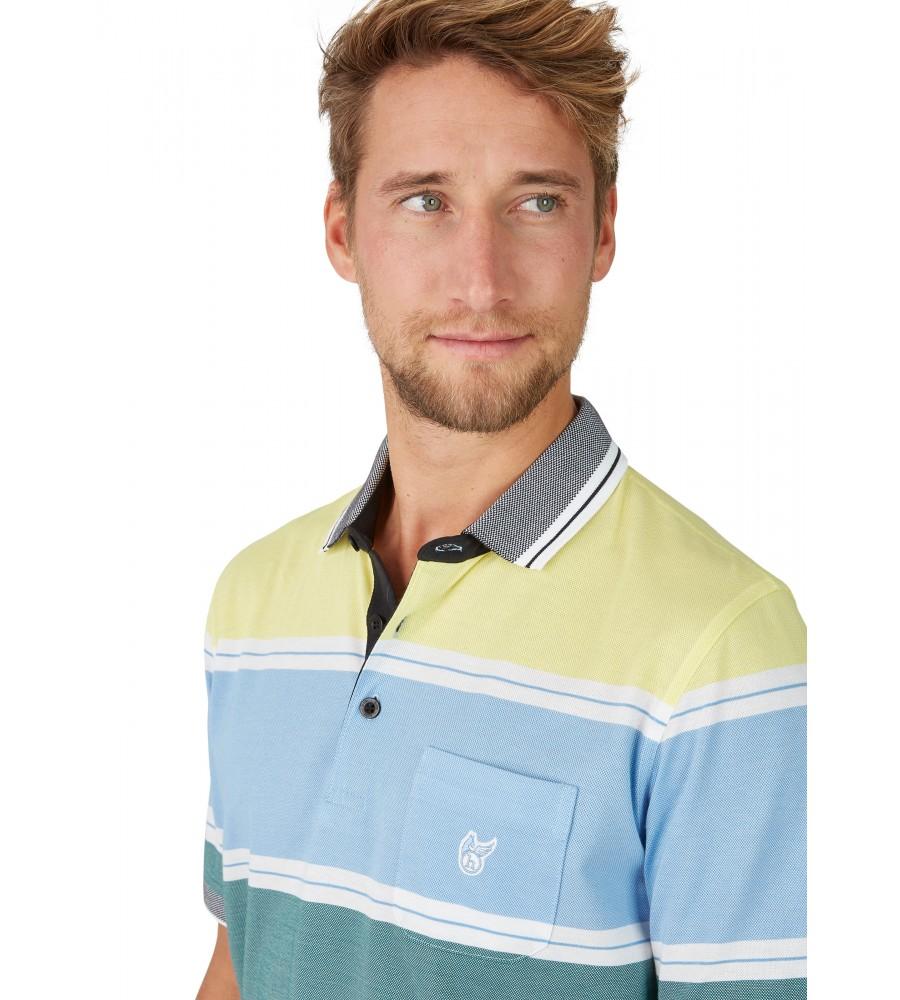 Pikee-Poloshirt mit stimmigen Blockstreifen 26628-526 detail1
