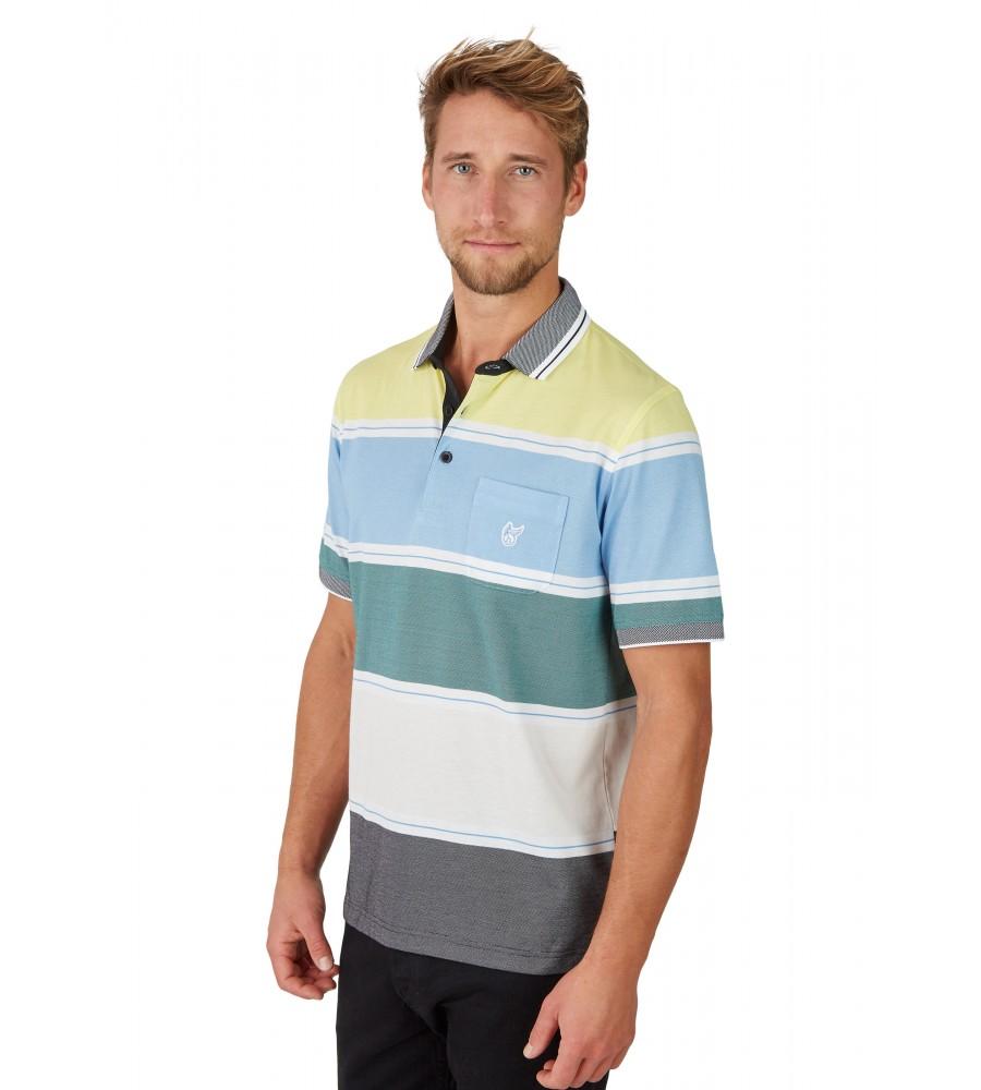 Pikee-Poloshirt mit stimmigen Blockstreifen 26628-526 front