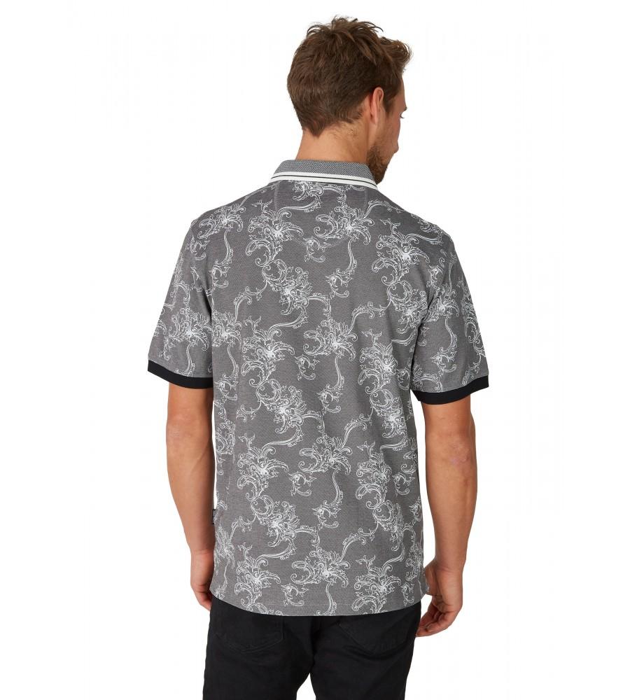 Pikee-Poloshirt mit tollem Alloverdruck 26629-100 back