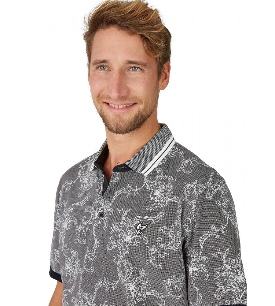 Pikee-Poloshirt mit tollem Alloverdruck 26629-100 detail1
