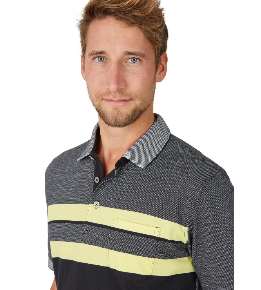 Poloshirt in Zweitonoptik 26632-100 detail1