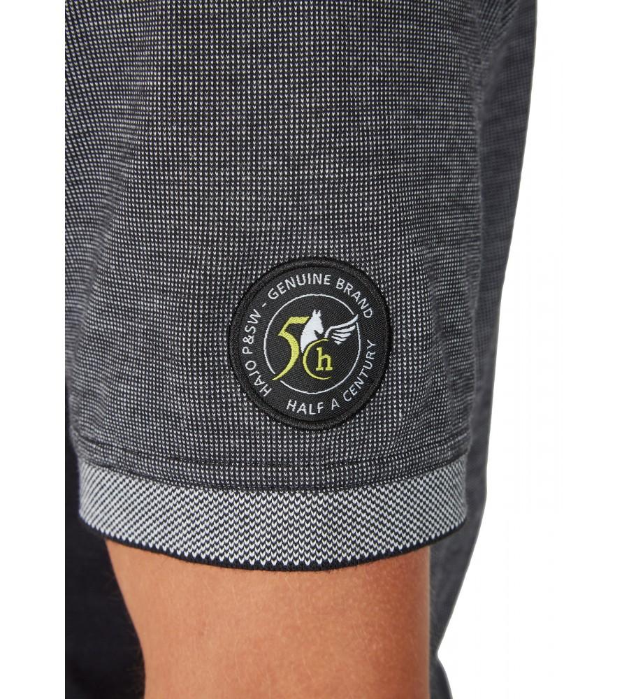 Poloshirt in Zweitonoptik 26632-100 detail2