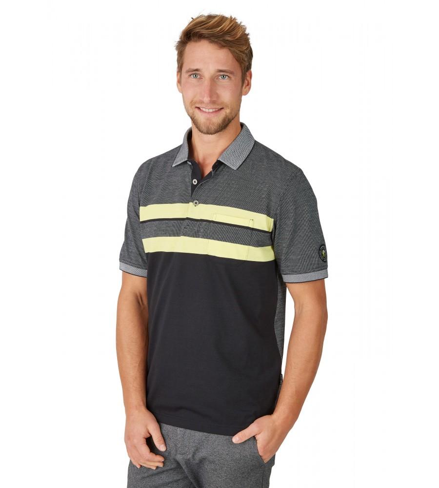 Poloshirt in Zweitonoptik 26632-100 front