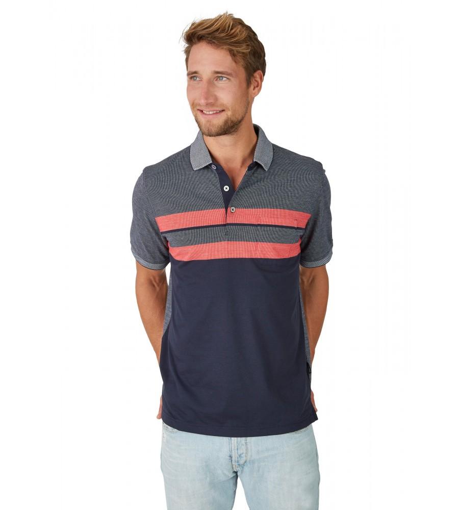 Poloshirt in Zweitonoptik 26632-609 front