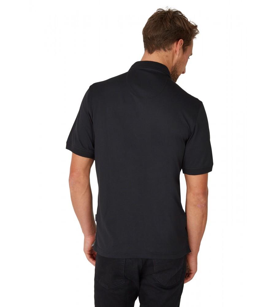 Poloshirt mit einem Vorderteil in Längsoptik 26633-100 back