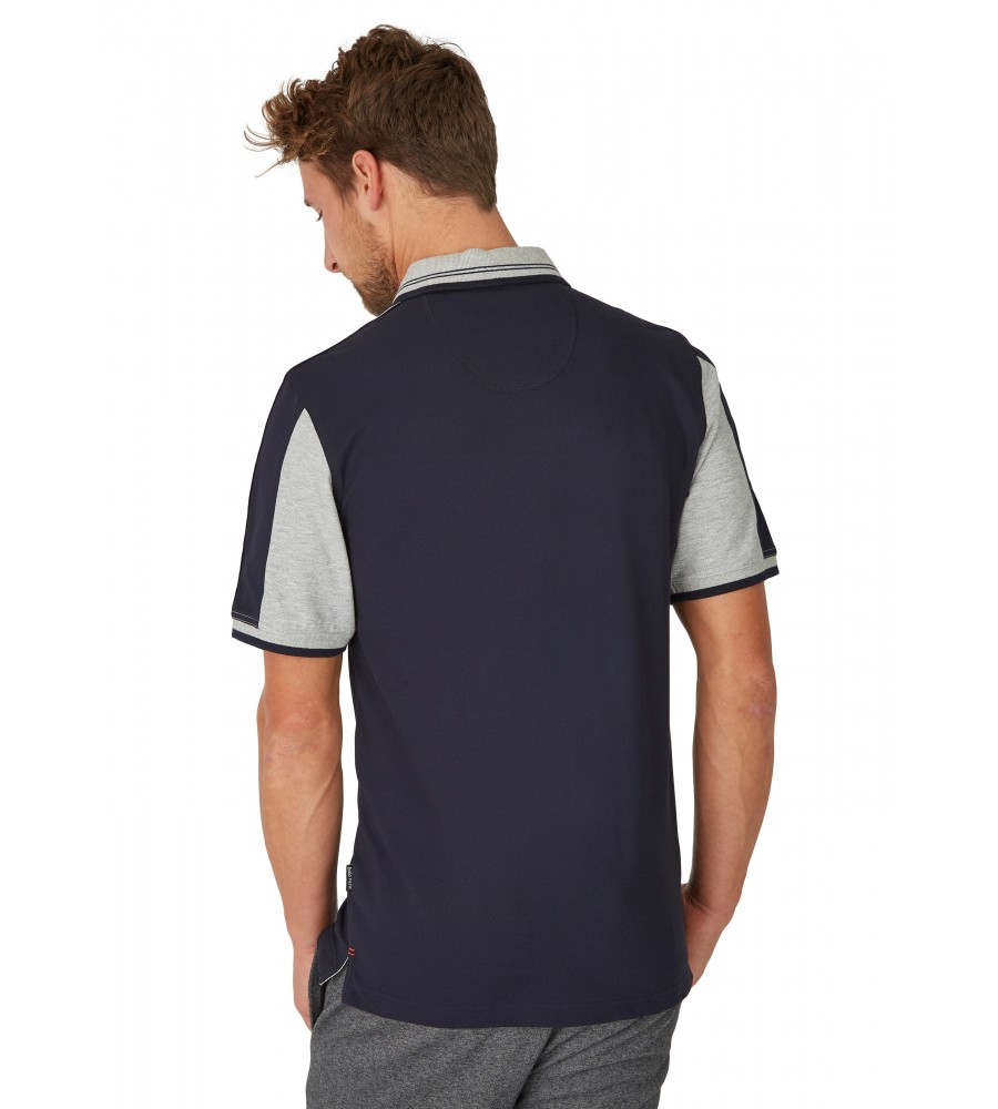 Sportliches Pikee-Poloshirt 26636-609 back