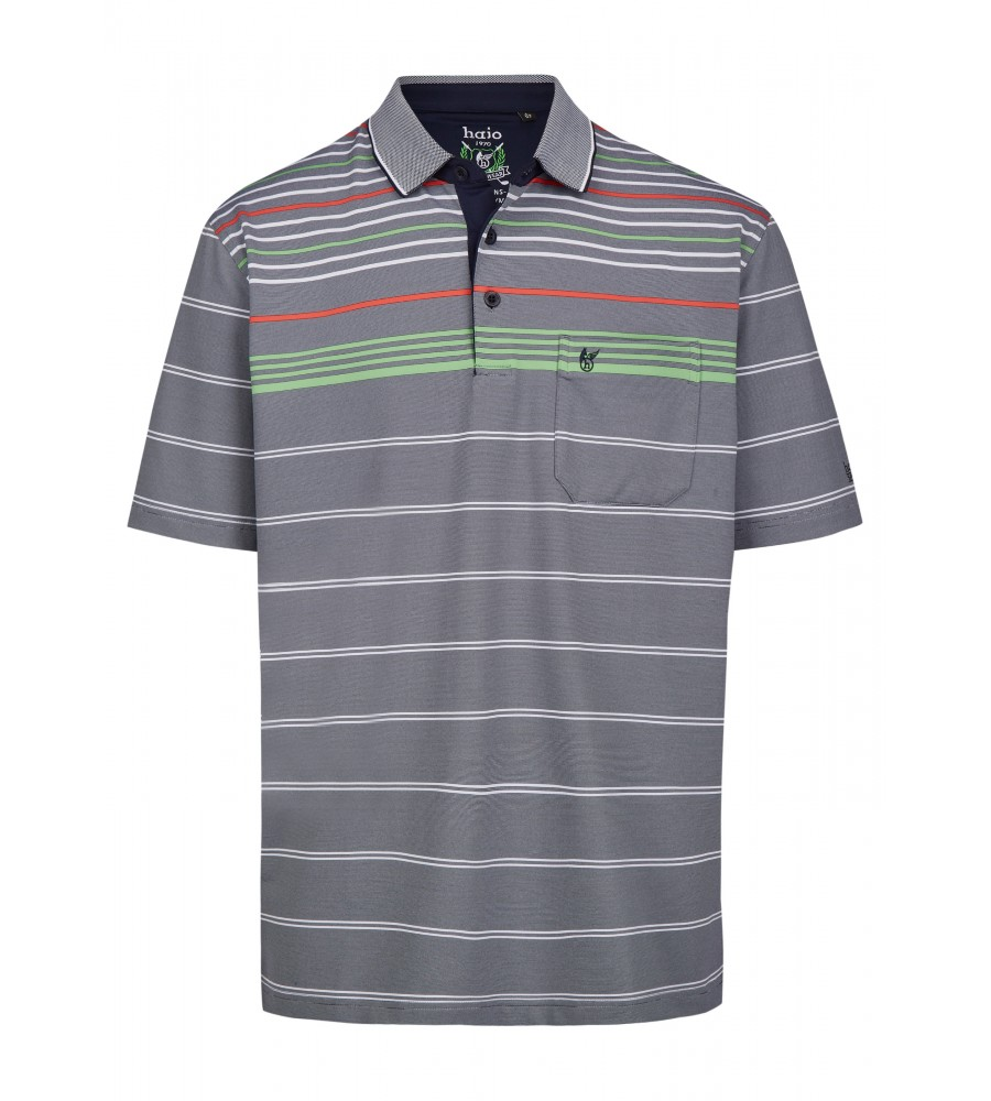 Funktions-Poloshirt mit Ringelmuster 26641-609 front