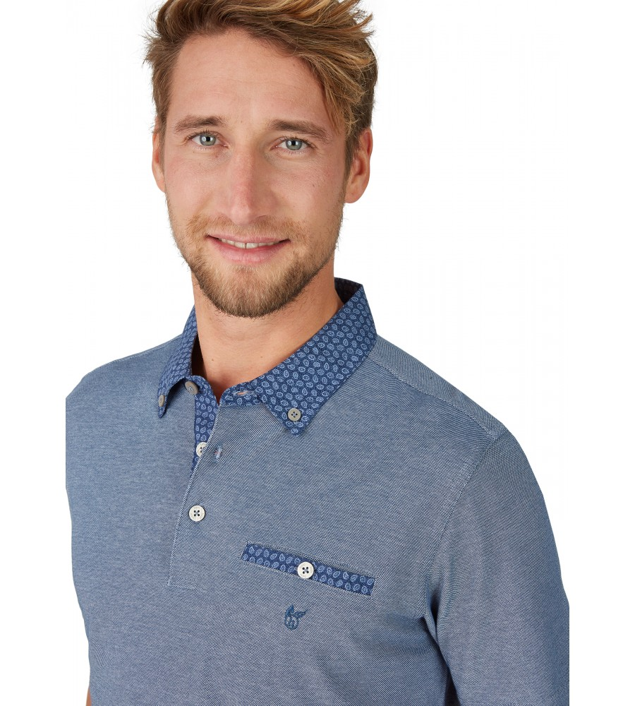 Pikee-Poloshirt mit Button-Down-Kragen 26642-638 detail1