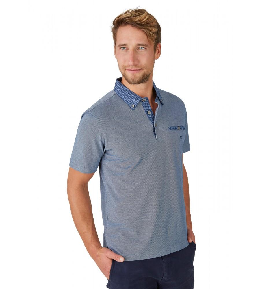 Pikee-Poloshirt mit Button-Down-Kragen 26642-638 front