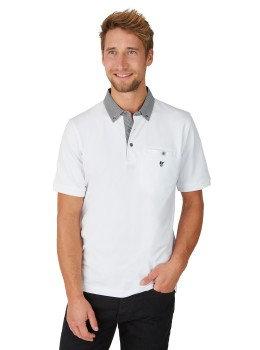 Pikee-Poloshirt mit Button-Down-Kragen
