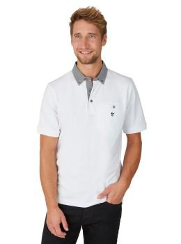 Pikee-Poloshirt mit Button-Down-Kragen