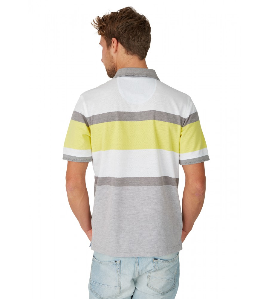 Poloshirt in trendigem Struktur-Mustermix 26644-400 back
