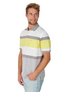 Poloshirt in trendigem Struktur-Mustermix