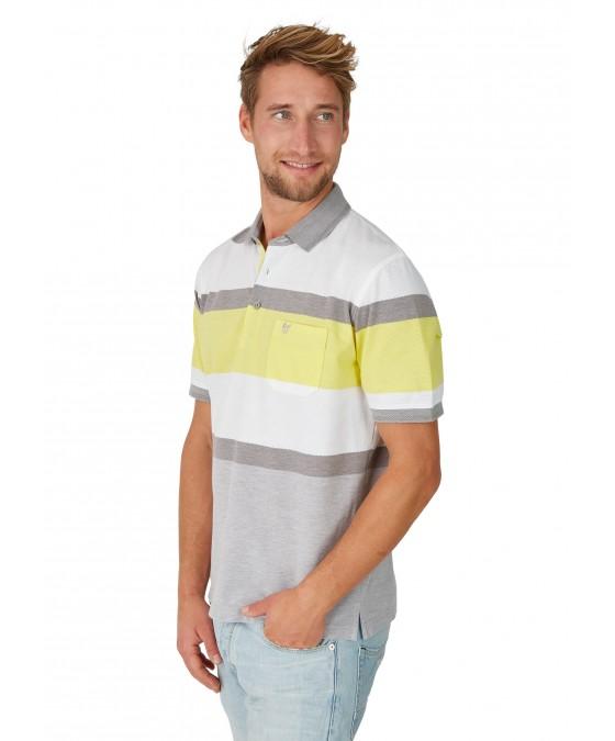 Poloshirt in trendigem Struktur-Mustermix 26644-400 front