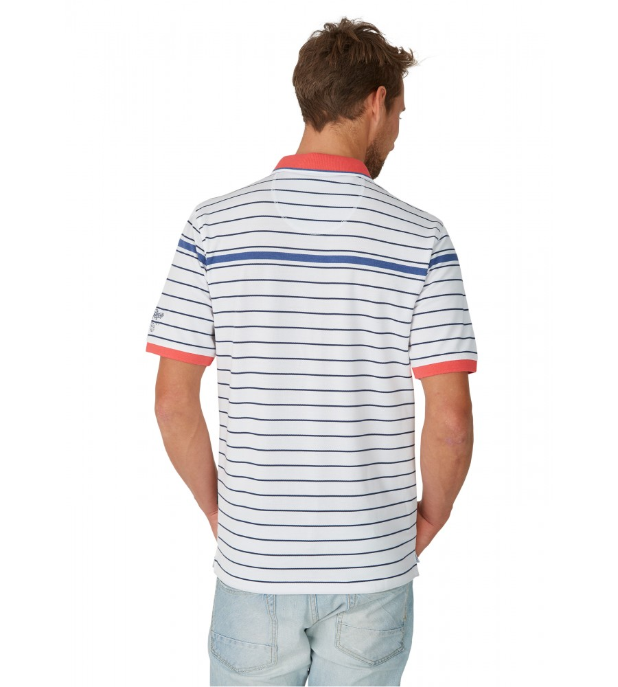 Pikee-Poloshirt mit Ringel 26646-200 back