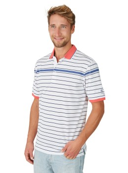 Pikee-Poloshirt mit Ringel