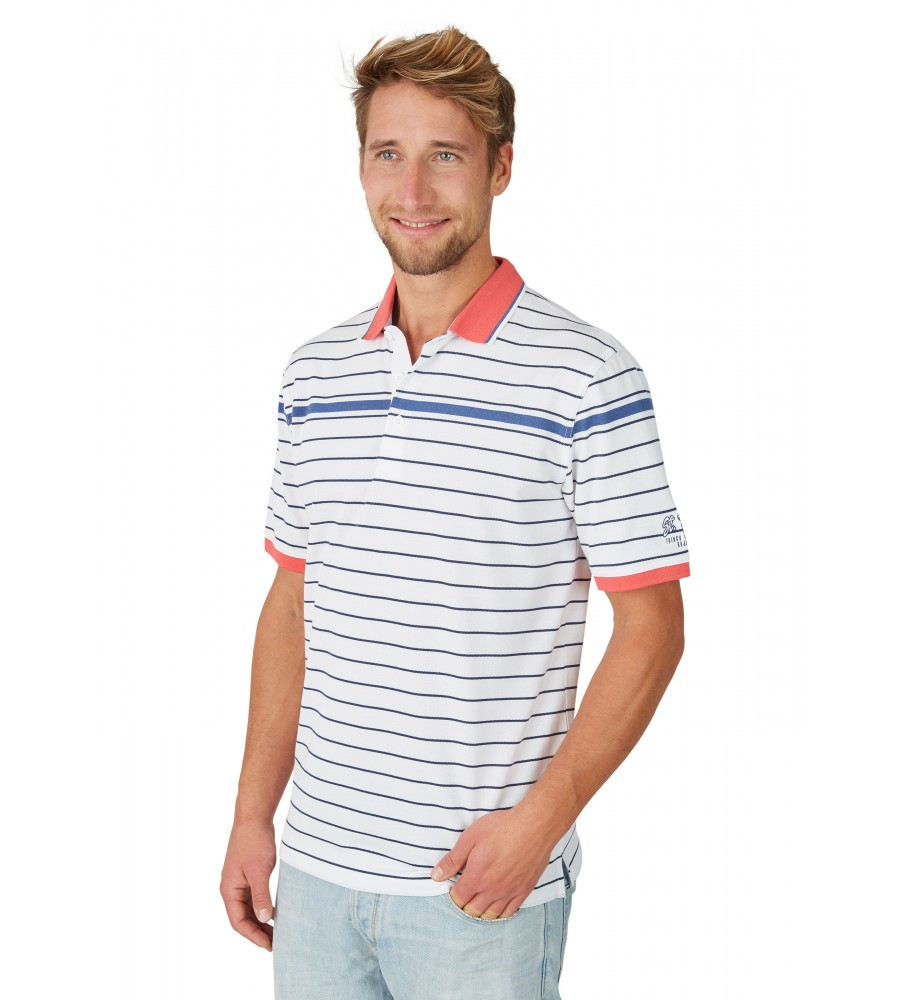 Pikee-Poloshirt mit Ringel 26646-200 front