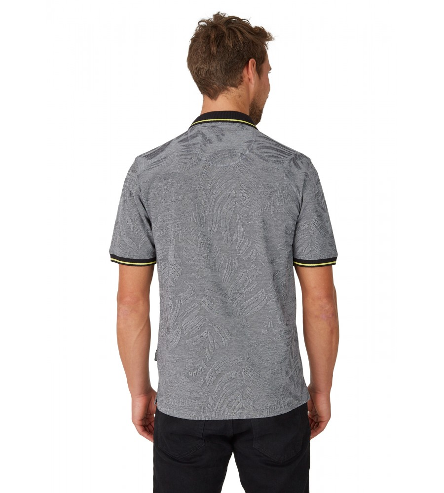 Poloshirt in tonigem Alloverjacquard 26647-100 back