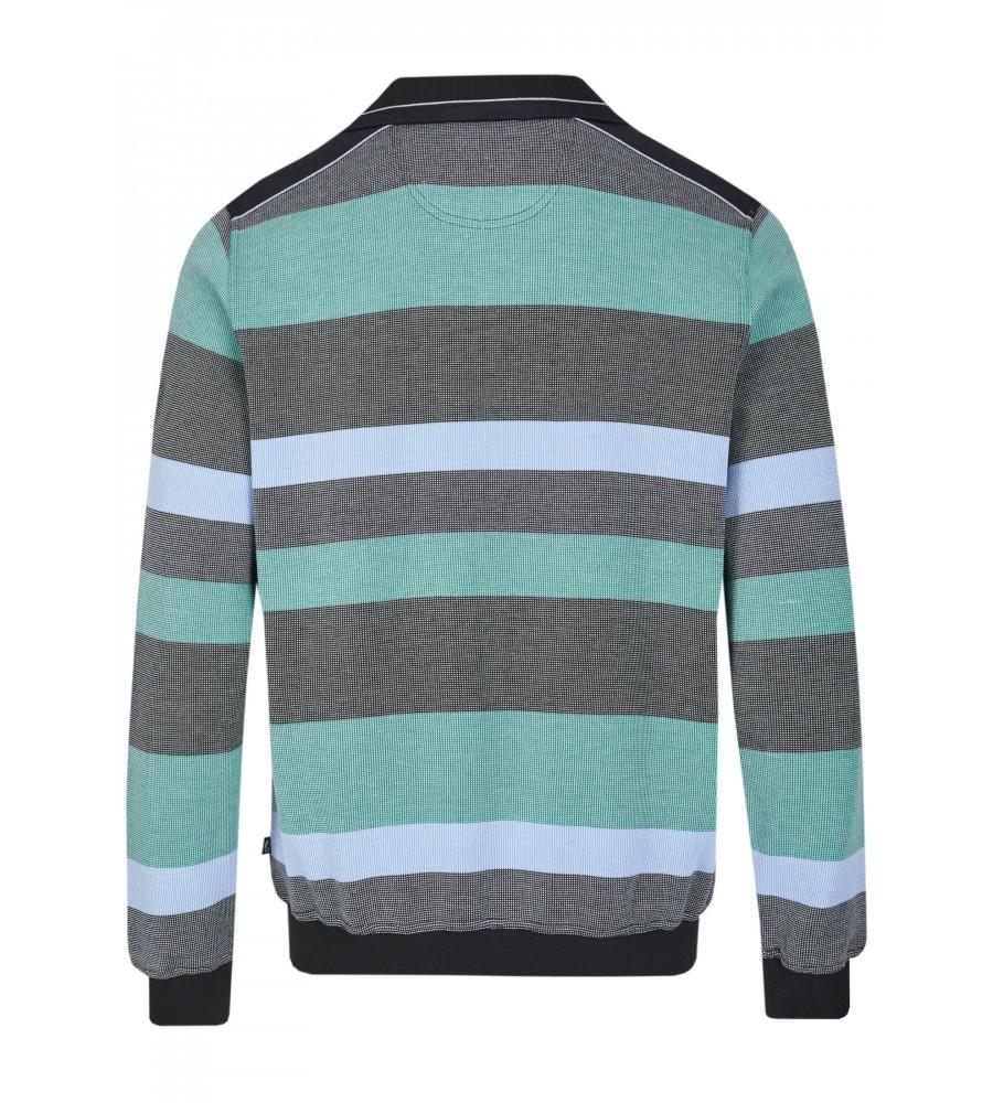 Sweatshirt mit Troyerkragen 26650-100 back