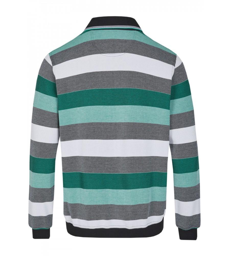 Sweatshirt mit Polokragen 26651-100 back