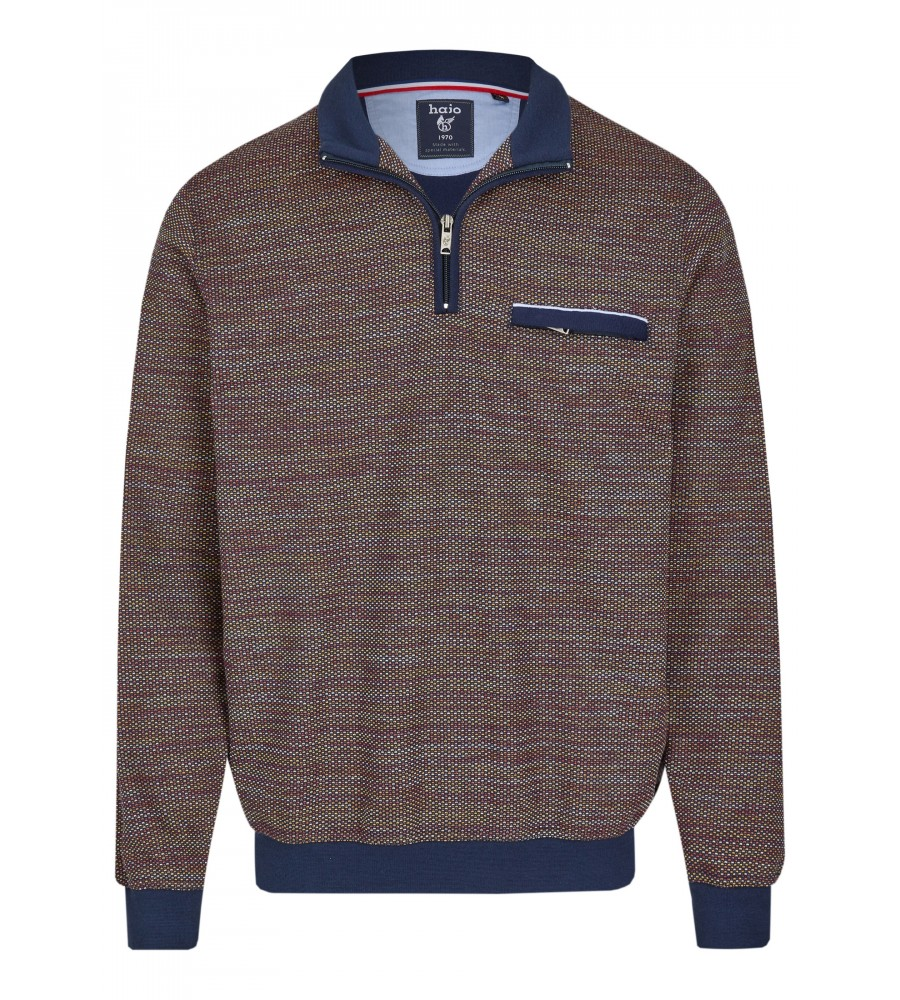 Sweatshirt mit Troyerkragen 26657-609 front
