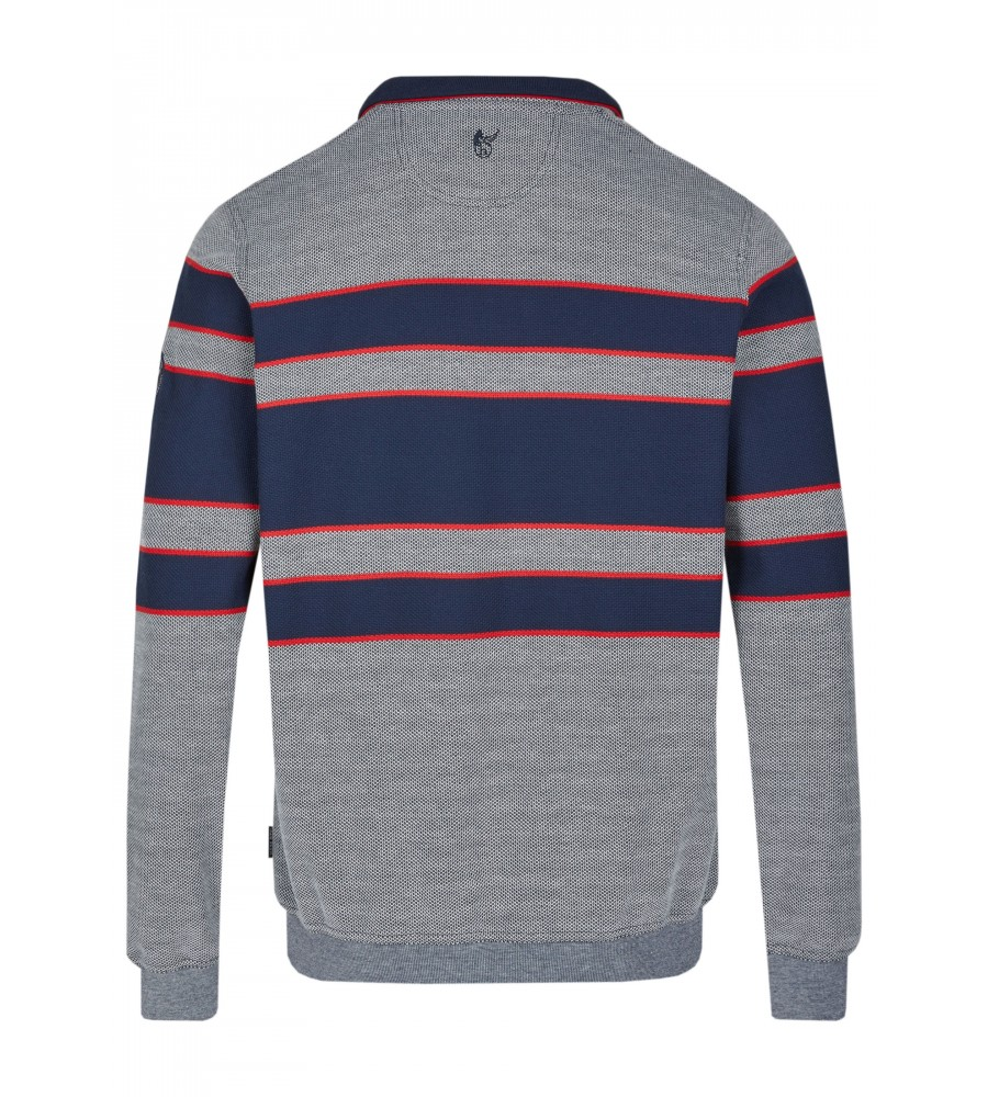 Sweatshirt mit Troyerkragen 26661-609 back