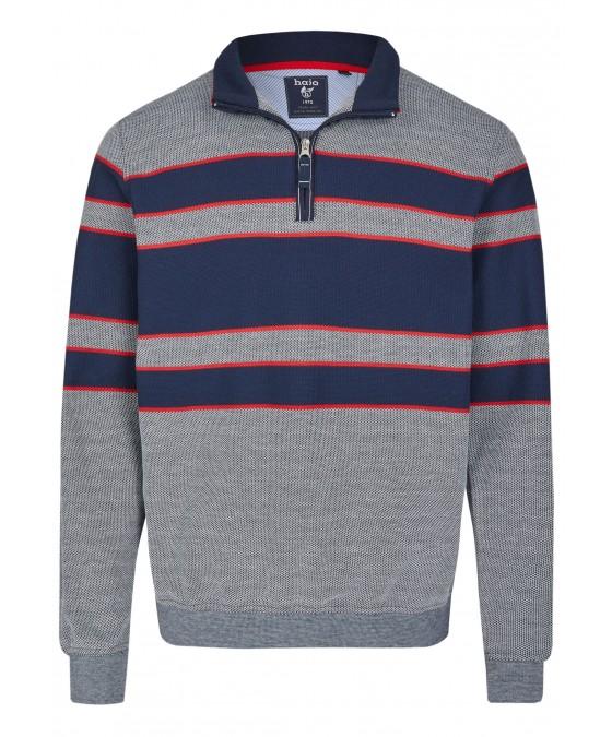 Sweatshirt mit Troyerkragen 26661-609 front