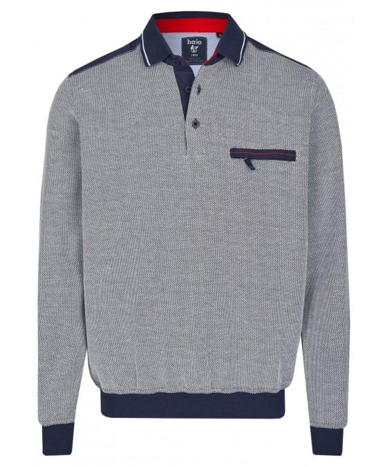 Sweatshirt mit Polokragen 26664-609 front