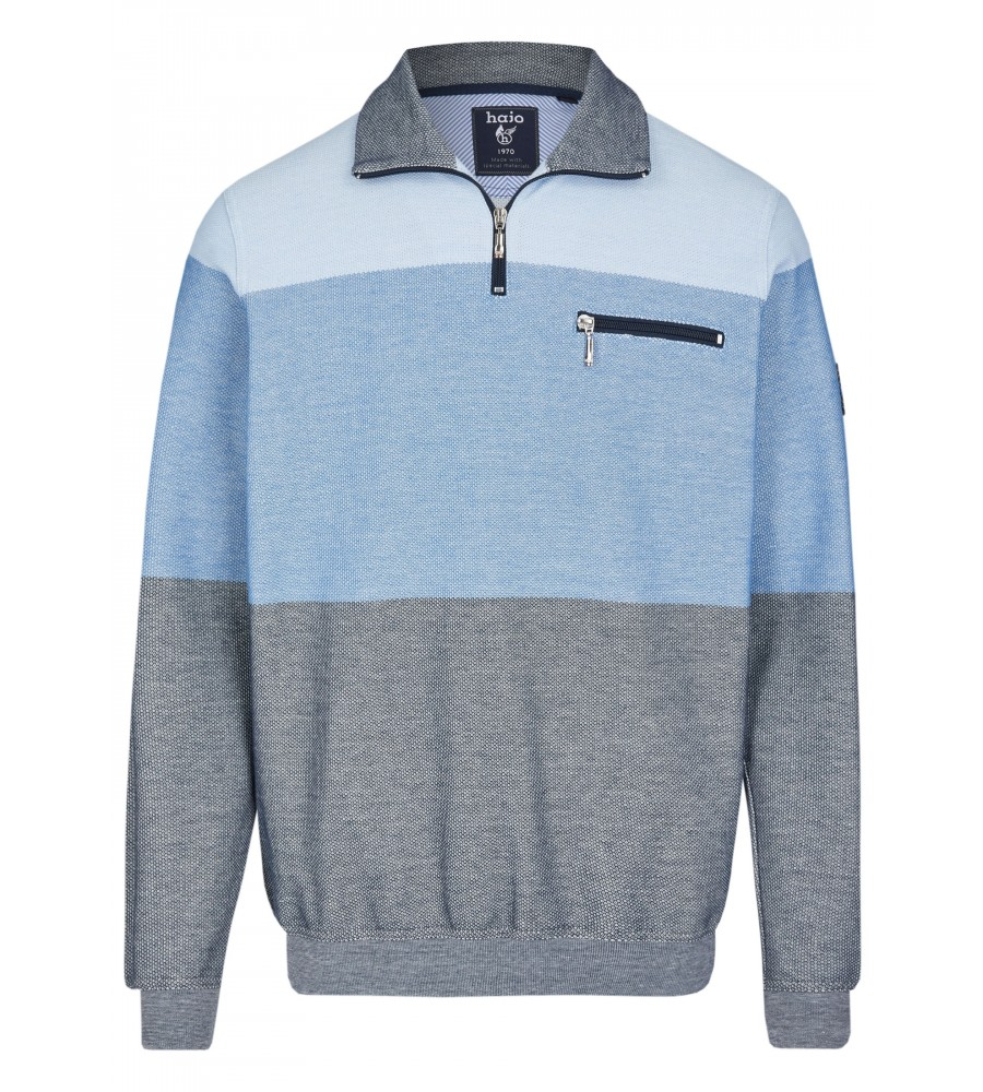 Sweatshirt mit Troyerkragen 26665-621 front