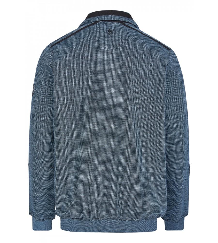 Sweatshirt mit Troyerkragen 26667-621 back