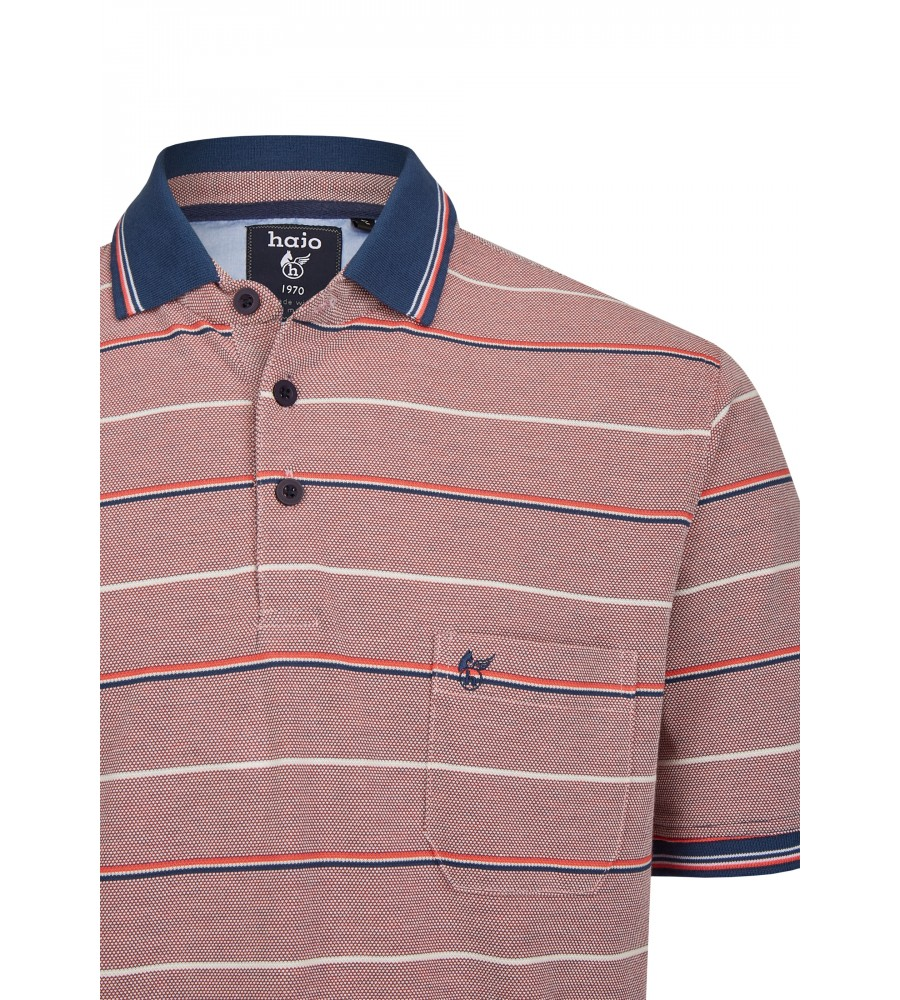 Pikee-Poloshirt in toller Zweitonoptik 26672-320 detail1