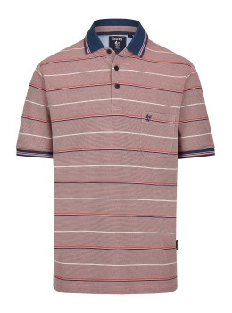 Pikee-Poloshirt in toller Zweitonoptik