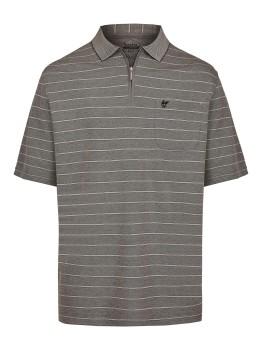 Softknit-Poloshirt mit garngefärbten Querringeln