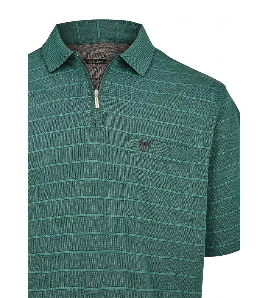 Softknit-Poloshirt mit garngefärbten Querringeln 26679-526 detail1
