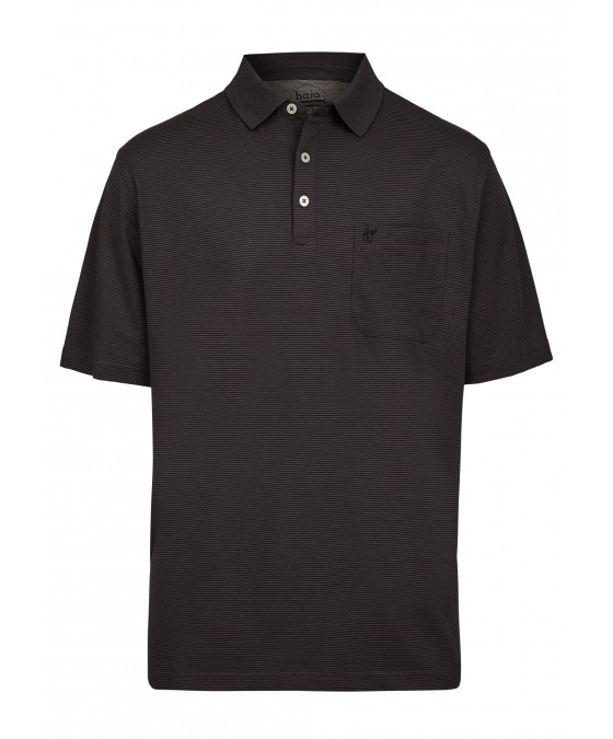 Softknit-Poloshirt mit feinem Streifenverlauf 26681-100 front