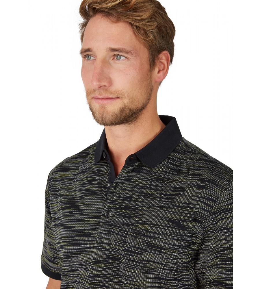 Poloshirt mit edler Oberflächenoptik 26682-100 detail1