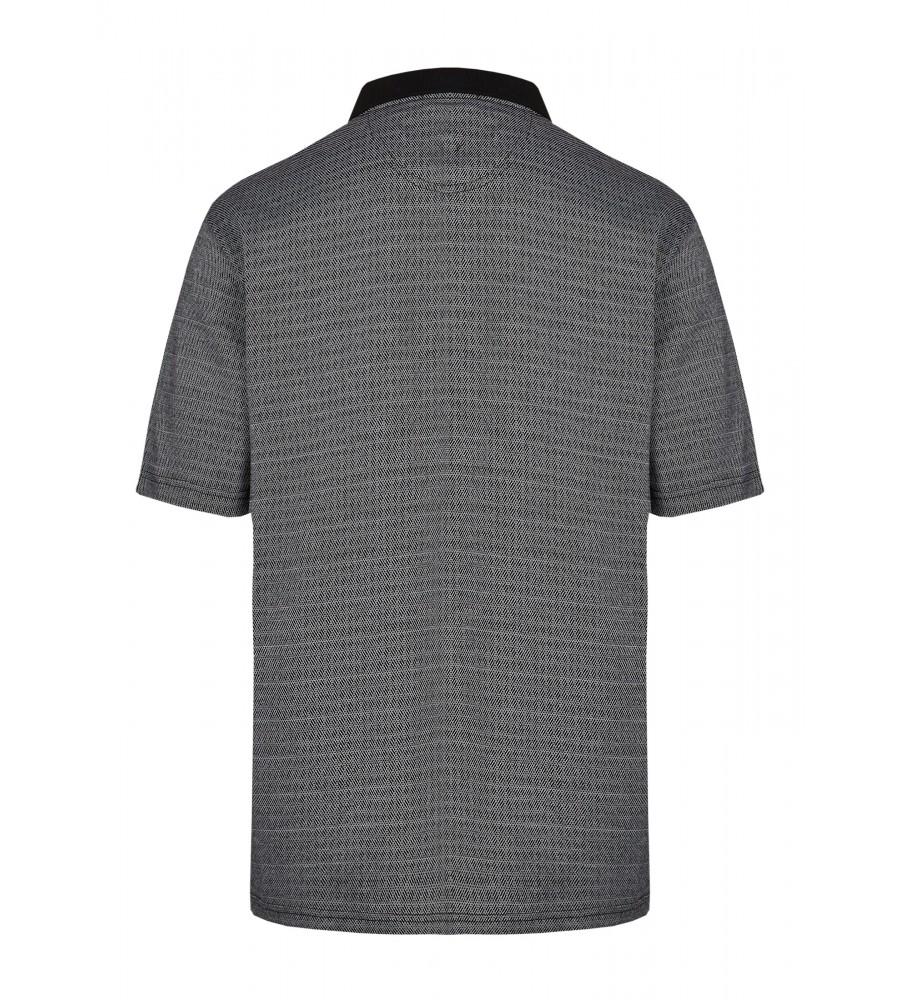 Poloshirt in Jacquardstruktur 26684-100 back