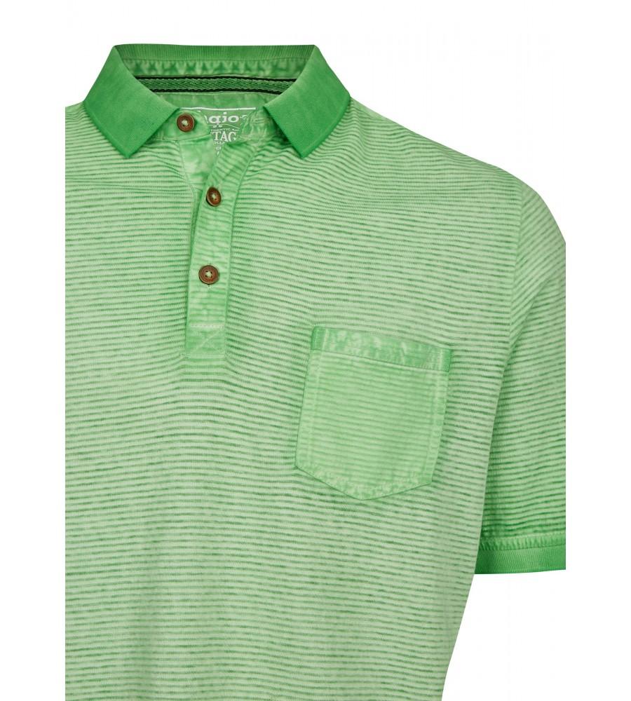 Washer-Poloshirt mit Querstruktur 26688-521 detail1