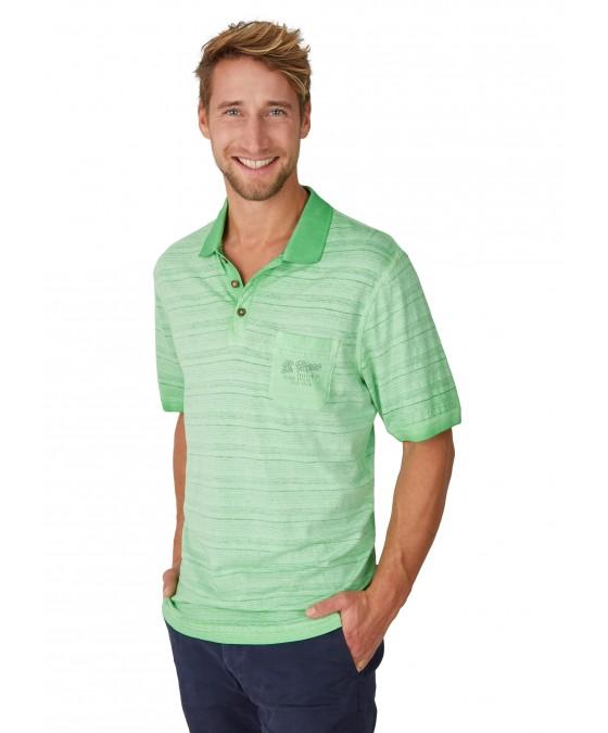 Washer-Poloshirt Oilwashed 26692-521 front