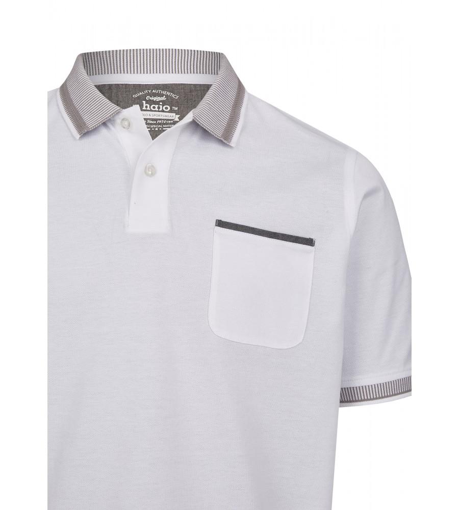 Pikee-Poloshirt mit aufwändig gestricktem Kragen 26696-200 detail1