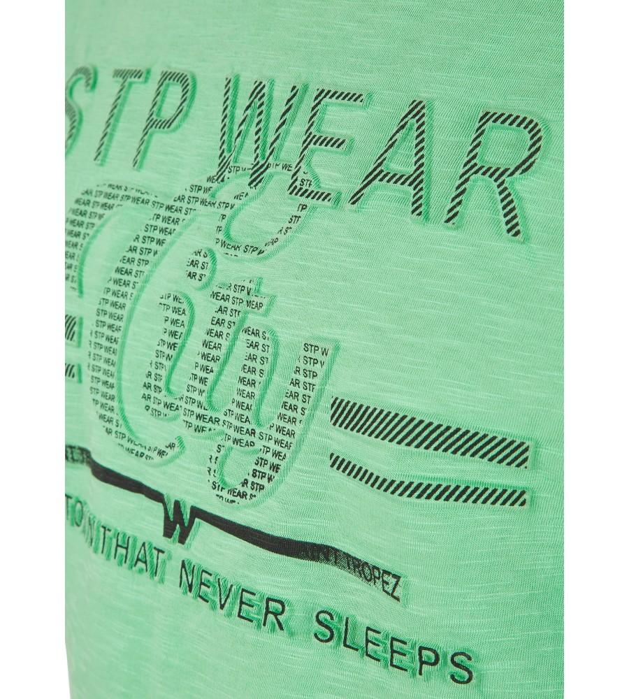 Rundhals T-Shirt mit Reliefdruck 26702-521 detail1