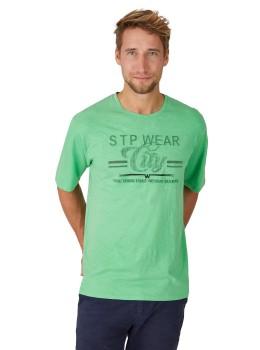 Rundhals T-Shirt mit Reliefdruck