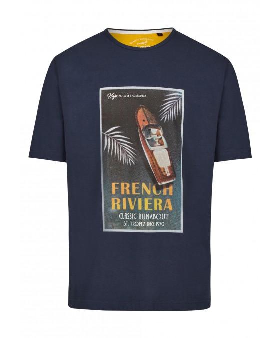 Rundhals T-Shirt mit Frontdruck 26715-609 front
