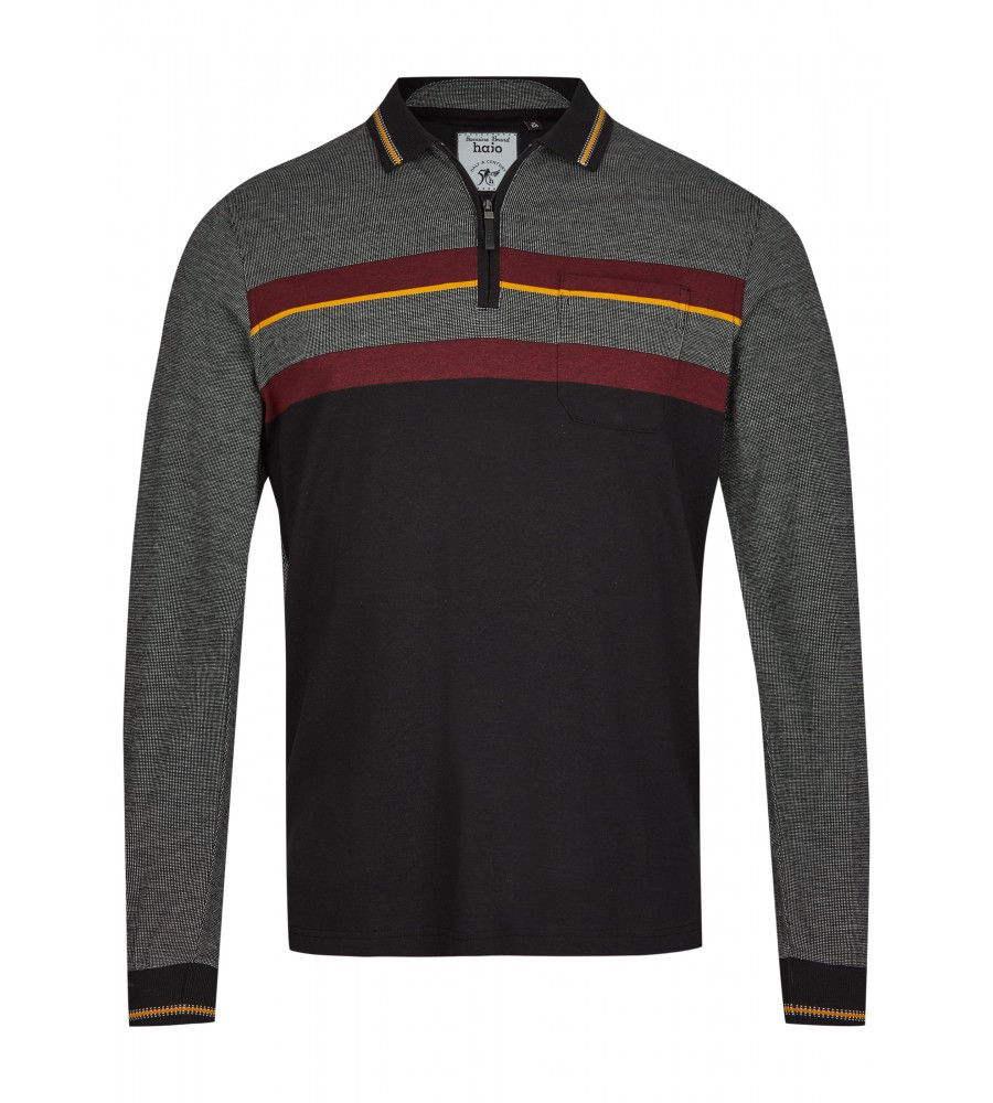 Poloshirt in Materialmix 26749-100 front