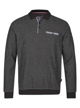 Sweatshirt in Zick-Zack-Melange