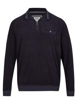 Strukturiertes Troyersweatshirt